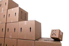 Frowning Box Royalty Free Stock Photos