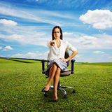 Frowning businesswoman Stock Images