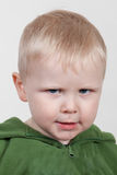 Frowning child Stock Photography