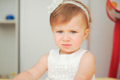 Frowning Girl Royalty Free Stock Photos