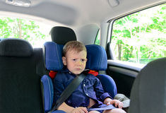 Frowning small boy Royalty Free Stock Photography
