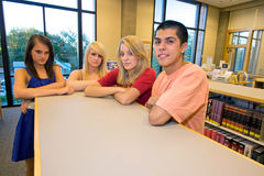 Frowning Students Stock Photography