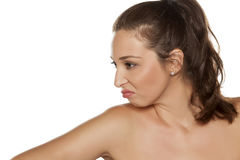 Frowning woman Royalty Free Stock Photos