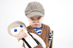 Frowning young boy Royalty Free Stock Images