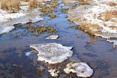 Froze runnel. Stock Photos