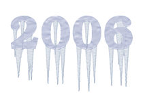 Frozen 2006 Year with icicles Stock Image
