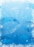 Frozen. Harmonic blue winter background. Vector illustration Stock Image