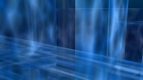 Frozen abstract. Blue transparent textured cubes composition Royalty Free Stock Photo