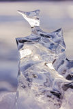 Frozen abstract ice sculpture nature thaw carved Stock Photo
