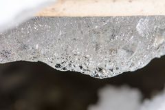Frozen abstract textures in ice Stock Photos