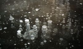 Frozen air bubbles Stock Photos