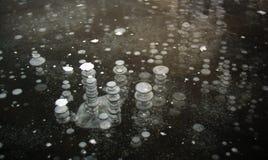 Frozen air bubbles Stock Photos