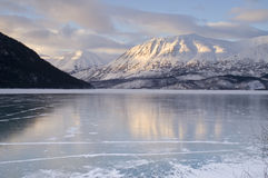 Frozen Kenai Lake Seward Hwy Alaska Wilderness  Stock Photo