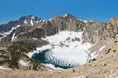 Frozen Alpine Lake Stock Image