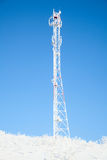 Frozen antenna Stock Image
