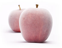 Frozen Apples Stock Images
