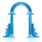 Frozen arch sculpture Royalty Free Stock Image