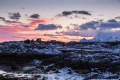 Frozen Arctic beach Stock Images