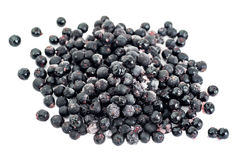 Frozen Aronia Berries Stock Image