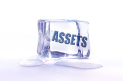 Frozen assets Stock Photo
