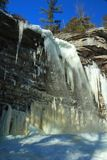 Frozen Awosting Falls Icicles stock image