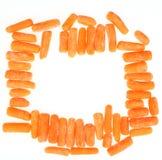 Frozen baby carrots Stock Photo