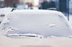 Frozen back window car Stock Images