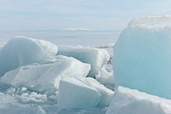 The frozen Baikal Royalty Free Stock Images