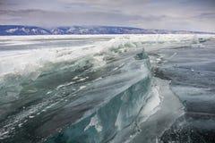 Frozen baikal lake in winter Royalty Free Stock Image