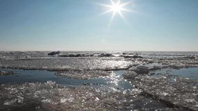 Frozen Baltic Sea, Lithuania Royalty Free Stock Image