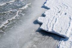 Frozen Baltic Sea Shore on a cold Winter Day Stock Photos