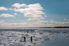 Frozen Baltic sea. Stock Photos