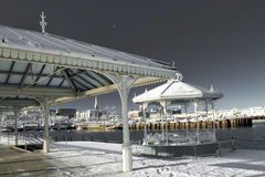 Frozen Bandstand on Pier in Dublin Ireland Royalty Free Stock Image