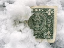 Frozen banknote Stock Image