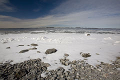 The Frozen Banks of the Saint Lawrence River Royalty Free Stock Image