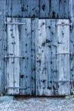 Frozen barn door Royalty Free Stock Image