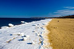 Frozen Beach Royalty Free Stock Photo