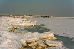 Frozen beach. Royalty Free Stock Photos