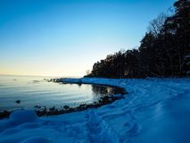 Frozen beach royalty free stock images