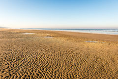 Frozen beach view by the baltic sea Royalty Free Stock Photography