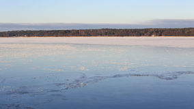 Frozen Beautiful Blue Sea Stock Photography