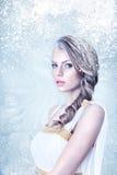 Frozen beautiful girl Royalty Free Stock Photography