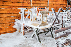 Frozen benches Royalty Free Stock Images