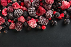 Frozen berries, border food background Stock Image