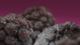Frozen berries close-up, food freezing, healthy organic nutrition, vitamins. Stock footage stock video footage