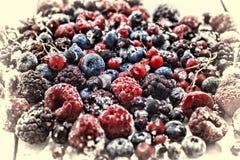 Frozen berries closeup. blueberries, raspberries, currants. Frozen berries closeup. blueberries, raspberries currants close up Stock Image