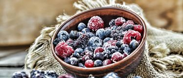 Frozen berries health food. Frozen berries. sorbet health food freshness vitamins Royalty Free Stock Images