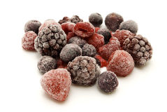 Frozen berries on white Royalty Free Stock Photos