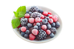 Frozen berry isolated Stock Image