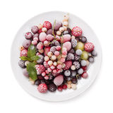 Frozen berry isolated on white background Stock Photos